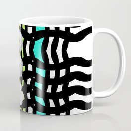 Three White Roses on Pattern Coffee Mug