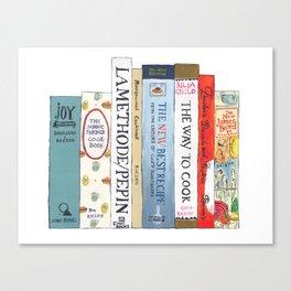 Cookbooks Bookshelf for Cooks & Food Lovers Canvas Print