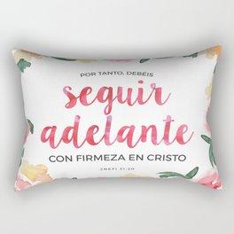 Seguir Adelante {Flores en Acuarela} Rectangular Pillow