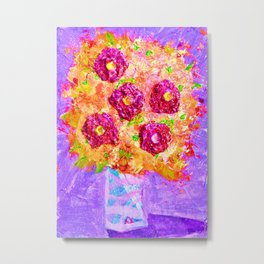 Little Sparkly Bouquet Metal Print