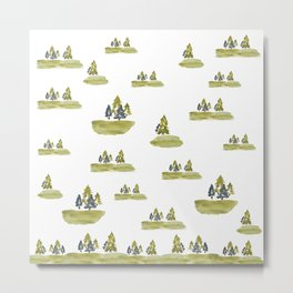 Varigated pine forest Metal Print