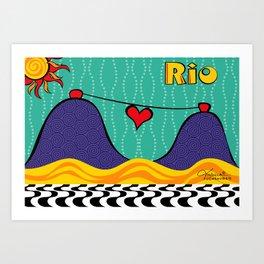 Rio Peace and Love Art Print