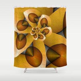 Rising, Modern Fractal Art Spiral Shower Curtain