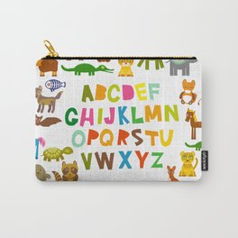 back to school. alphabet for kids from A to Z. funny cartoon animals Carry-All Pouch