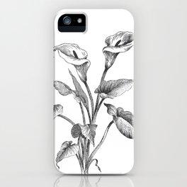 Vintage Calla Lily Bush iPhone Case