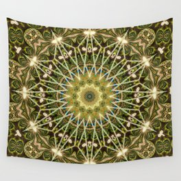 Geometric Forest Mandala Wall Tapestry