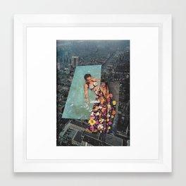 Last Swim Framed Art Print
