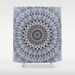 Frozen colors mandala Shower Curtain