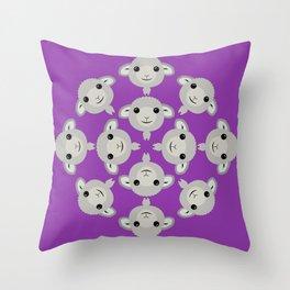 Sheep Circle - 4 Throw Pillow