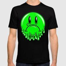 Slimey - neon green Mens Fitted Tee MEDIUM Black