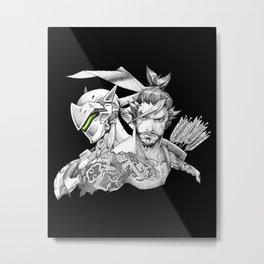 Genji & Hanzo Metal Print