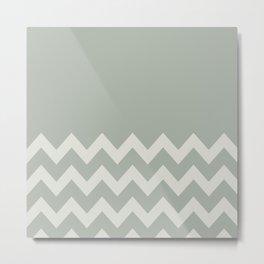 Gray Grey Chevron Colorblock Metal Print