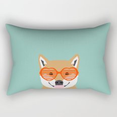 Shiba Inu Love - Gifts for pet owners dog person gifts shiba inu gifts customizable dog gifts cute Rectangular Pillow