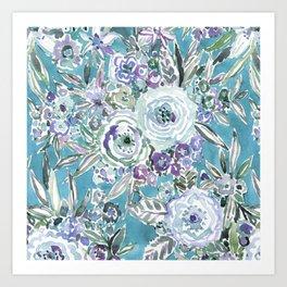 MAUI MINDSET Mystic Aqua Floral Art Print