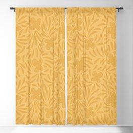 Yellow swirl butterflies pattern Blackout Curtain
