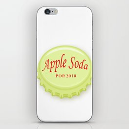apple soda 2010 brand logo t shirt iPhone Skin