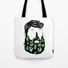 Cactus Beard Dude Tote Bag