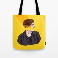 carmilla Tote Bags featuring lafontaine by Ana Rocha