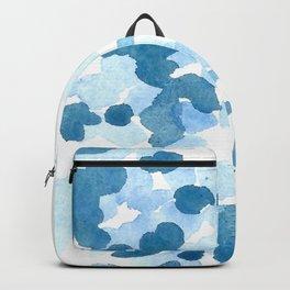 Seren Blue Watercolor Cascade Backpack