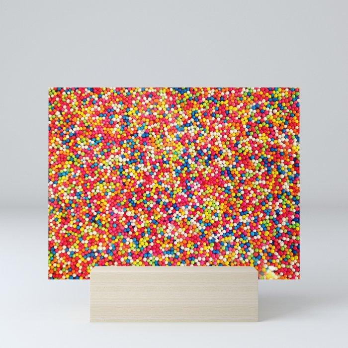 Vibrant Rainbow Sprinkles Mini Art Print