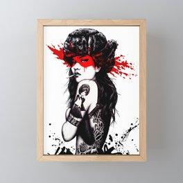 Cool Girl Style Fashion Popart Hipster Framed Mini Art Print