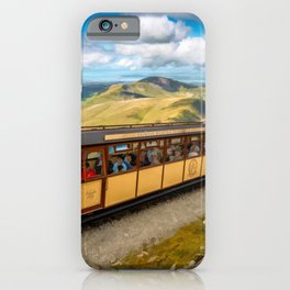 Mountain Train Snowdon Wales iPhone Case