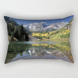 Maroon Bells in Aspen, Colorado Rectangular Pillow