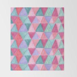 pastel triangle pattern Throw Blanket