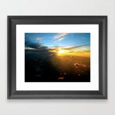 Above the Endless Sky Framed Art Print