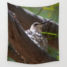 Hummingbird Momma Wall Tapestry