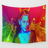 witchcraft Wall Tapestries featuring Witchcraft by ICARUSISMART