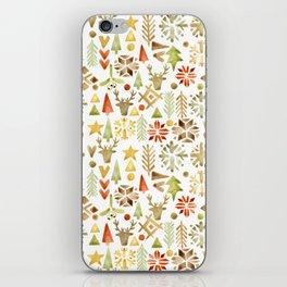 Winter forest scandinavian background iPhone Skin