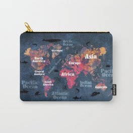 world map 115 #worldmap #map Carry-All Pouch