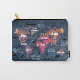world map 115 #worldmap #map Carry-All Pouch