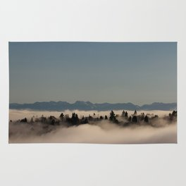 Seattle in the fog - Capitol Hill and the Cascades Rug