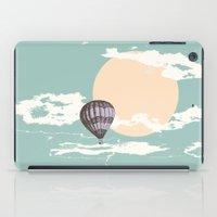 hot air balloon iPad Cases featuring Hot Air Balloon by mattholleydesign