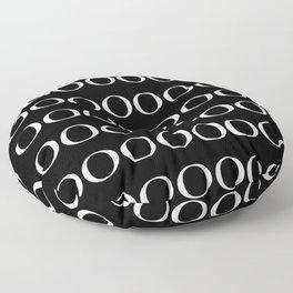 OOO ING Black Floor Pillow