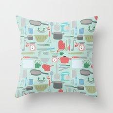 Kitchen Pattern Throw Pillow