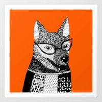 mr fox Art Prints featuring Mr. Fox by yellow pony