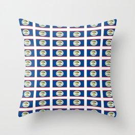 flag of belize 2 -Belice, Belizean,Belize City,beliceno,Belmopan Throw Pillow