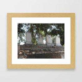 Mokelumne Hill Pioneer Cemetery Framed Art Print