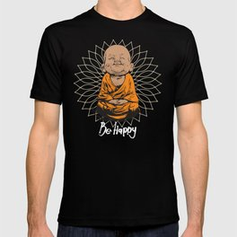 Be Happy Little Buddha T-shirt