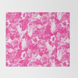 Florida Tapestry - monochrome pink Throw Blanket
