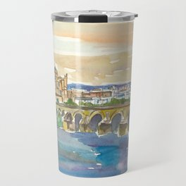 Cordoba Bridge and Mezquita in Andalusia Spain Travel Mug