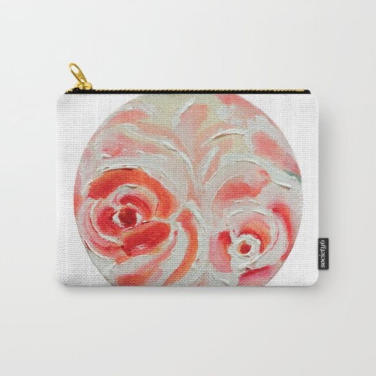 Peach Plums Carry-All Pouch