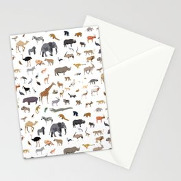 African animal pattern Stationery Cards