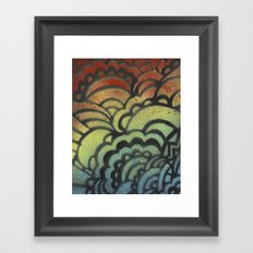 Drawing Meditation Stencil 1 - Print 9 Framed Art Print