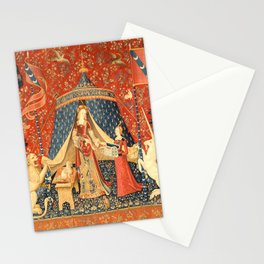 Lady and The Unicorn Medieval Tapestry Stationery Cards