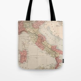 Vintage Map of Italy (1883) Tote Bag