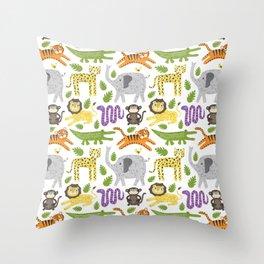 Kids Jungle Design Throw Pillow